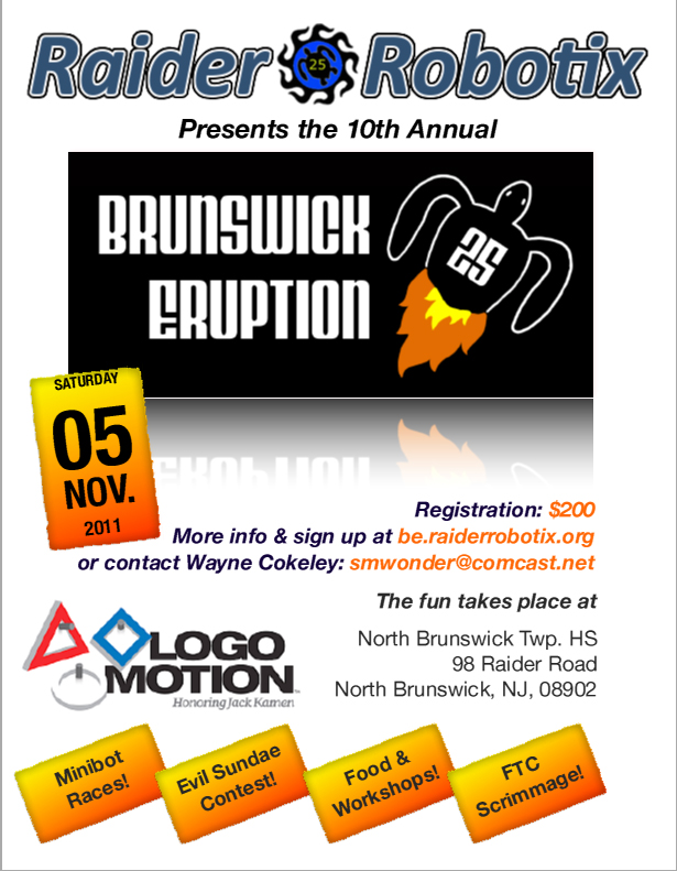 Brunswick Eruption 10 Flyer image. Click the image to see a printable PDF suitable for framing.